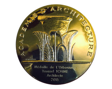 Youssef Tohme awarded 'La médaille de l'urbanisme' from France's Academy of Architecture